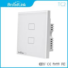 UK Normal Broadlink 2gang TC2 good Residence Automation Wi-fi Distant Management Contact Lamps Wall Swap Luxurious White Crystal Glass
