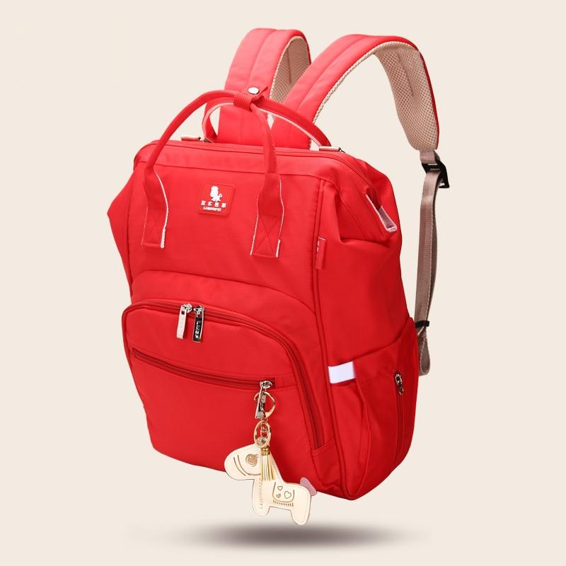 M L Big Zipper Closure Type Mommy Diaper Bag Outdoor Infant Food Feeding-Bottle Nappy Baby Bag Quality Ergonomic Maternity Bag