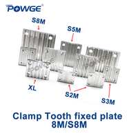 POWGE Aluminum Arc Clamp Tooth plate HTD 8M STD S8M for open synchronous belt HTD8M Fixed timing Belt connection CNC Teeth plate