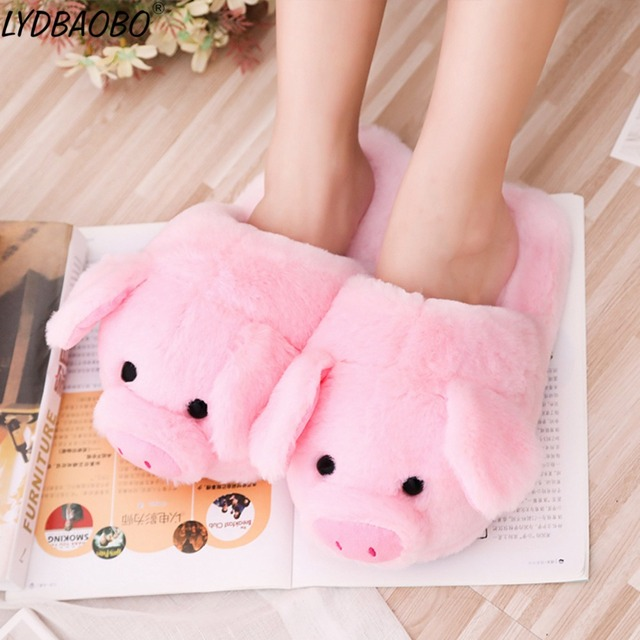 1pc New Creative Kawaii Pink Pig Accessories Stuffed Plush Toy Kids Cute Soft Animal Slipper Ornament Doll Baby S Gifts