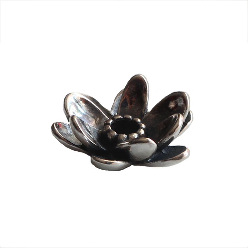 Authentic 925 Sterling Silver Charm Beads New Lotus Flower Bead Fit Troll European Brand DIY Bracelet Jewelry Gift For Woman authentic 925 sterling silver charm beads shadow petals compatible fit troll european brand diy bracelet jewelry gift for woman