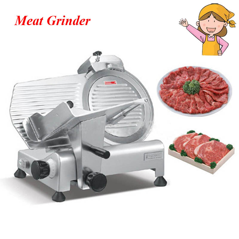 1pc 10 Semi-automatic Frozen Meat Slicer Mutton Slicing Machine with English Manual ES300-12 new conditioner stainless steel 0 17 mm thickness mutton roll slicer machine frozen meat cutting machine price