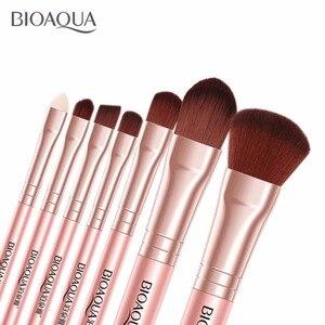 Image 5 - BIOAQUA Juego de 7 brochas de maquillaje para mujer, conjunto de brochas de maquillaje para rostro, cosmética Facial de belleza para ojo, sombra, base, colorete, brocha de maquillaje