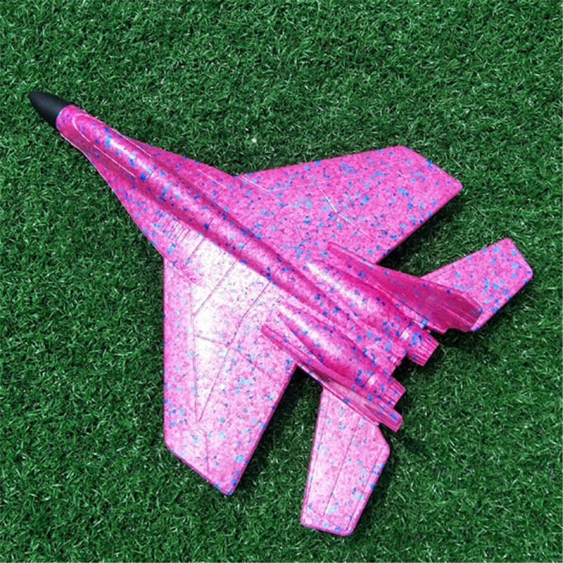 Hand Throw Flying Airplane Glider Fighter Planes Foam Aeroplane Model Fillers Flying Glider Plane For Kids Game DIY Kids Toys(China)