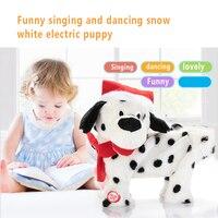 מיני מוסיקה כלב רובוט פלסטיק קטיפה מתנת יום הולדת גאדג 'טים לשיר גור כלב ריקודים מוסיקלי חשמלי תינוק ילדים
