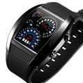 Relógios desportivos Homens Digital LED Relógio de Corrida Speed Meter Car Dial Silicone Strap Militar Masculino Relógios de Pulso relogio masculino