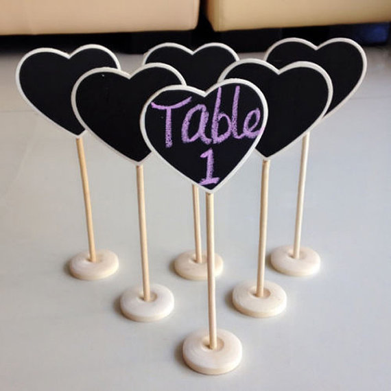 1000pcs wholesale Mini Wooden Chalkboards Blackboard on stick Stand Table Numbers Wedding Candy Signs Birthday party