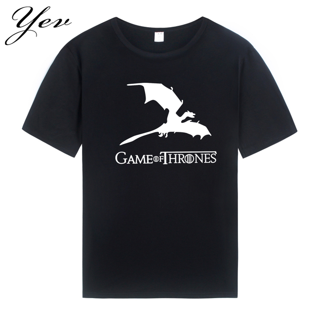 Game of Thrones Dragons Summer Casual Fashion Men's T-shirt