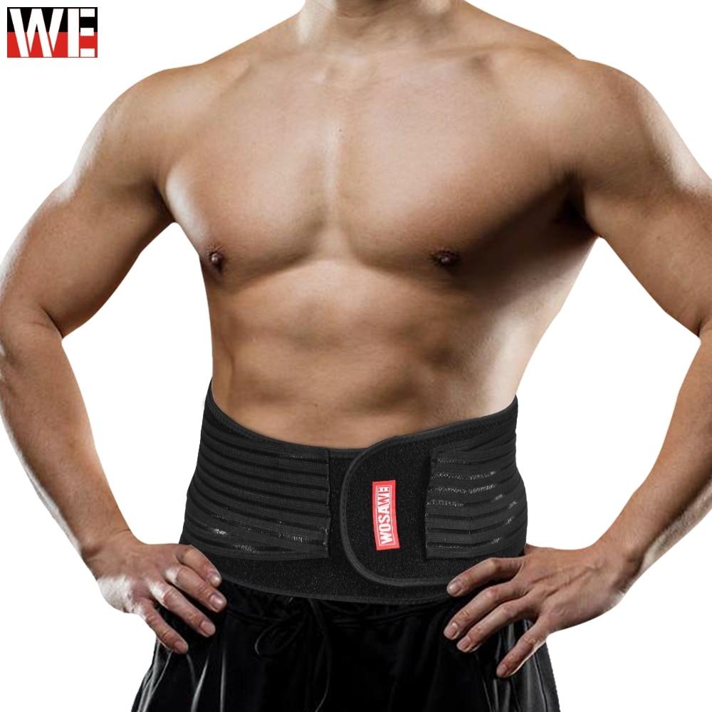 WOSAWE Waist Support Motorcycle Back Double Adjust Lumbar Brace Belt Slimming Bodybuilding Gym Fitness