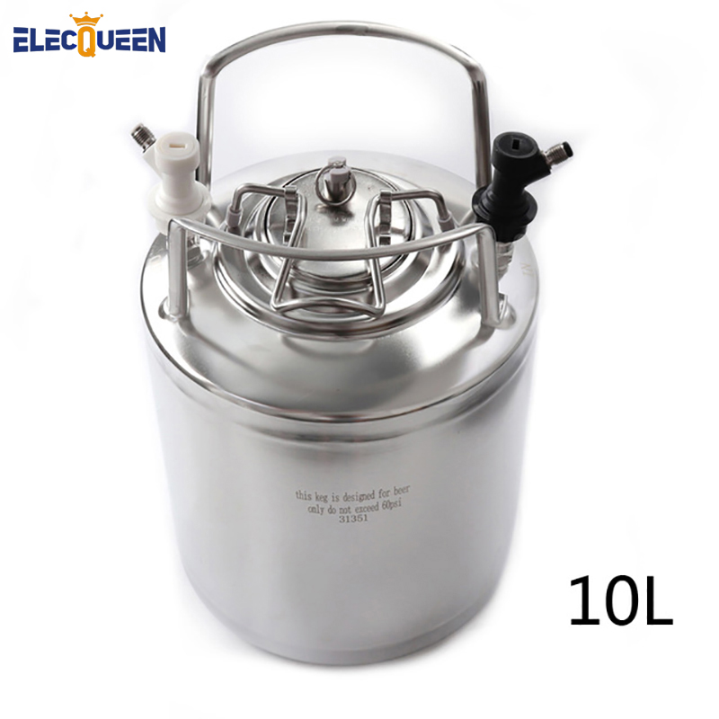 10L 2 5 Gallon Cornelius Style Stainless Steel Beer OB Keg With Metal Handles Ball Lock