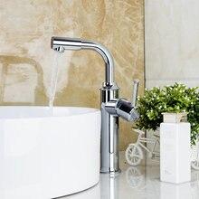 Кухня torneira Cozinha 92322B Chrome Ванная Комната Прилавок сосуд Раковина бассейна кран Одной ручкой Ванная комната смесителя