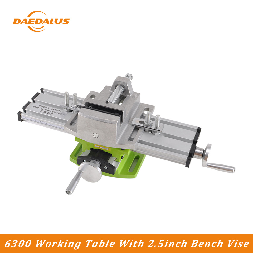 Us 24 51 38 Off Daedalus 1pc 6300 Drill Table 1pc 2 5 Inch Bench Vise Diy Home Use Woodworking For Engraver Cnc Machine Parts On Aliexpress Com