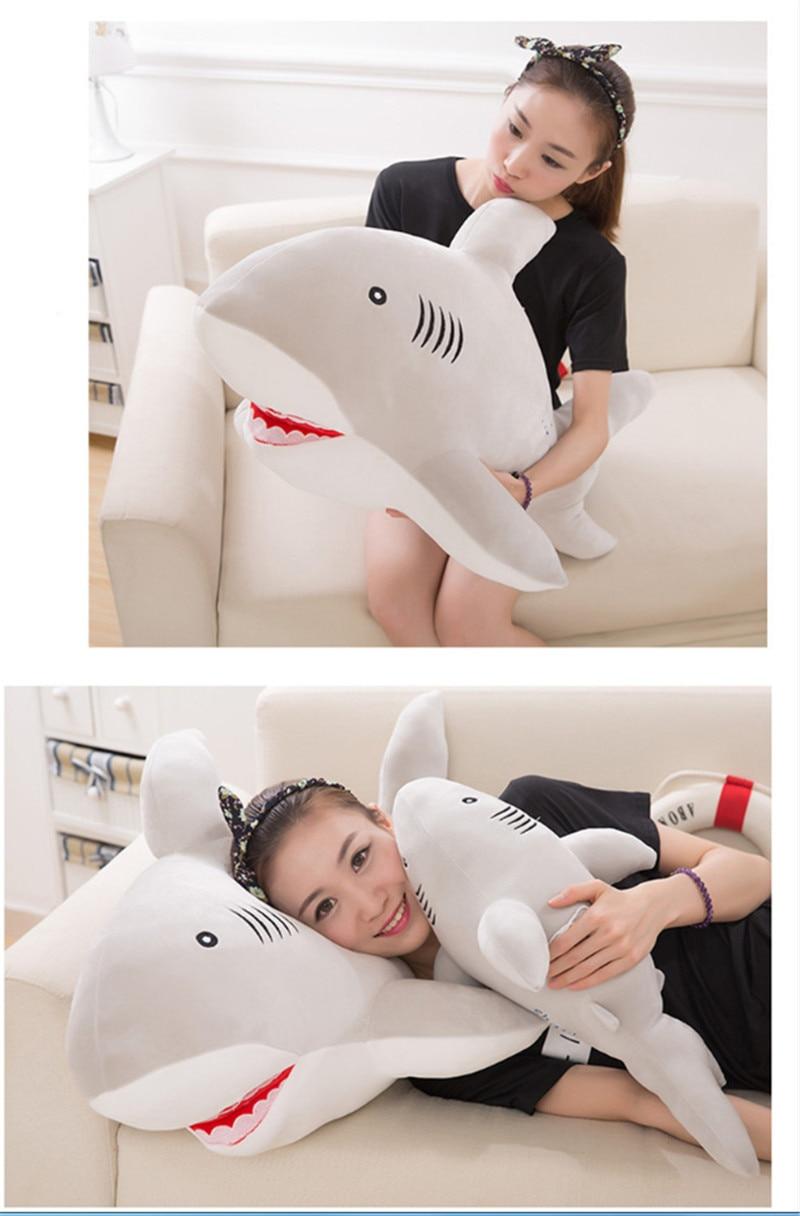 New Style Shark Plush Toys Big Fish Cloth Doll Whale Soft Stuffed Plush Animals Doll Children Birthday Gift 4