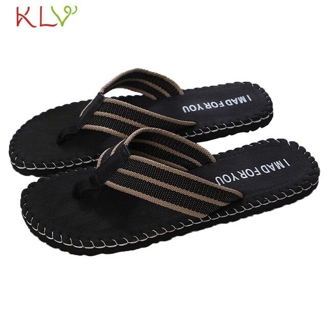 48dee1645bbe Comfort Sandals Summer Men Beach Flip Flops Shoes Sandals Open Toe Slipper  indoor outdoor Flip-flops 40-45 Male Shoes 18Dec3