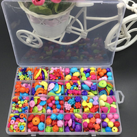 Girl Beads DIY Toys For Children String Beads Make Up Puzzle Toys Jewelry Necklace Bracelet Building