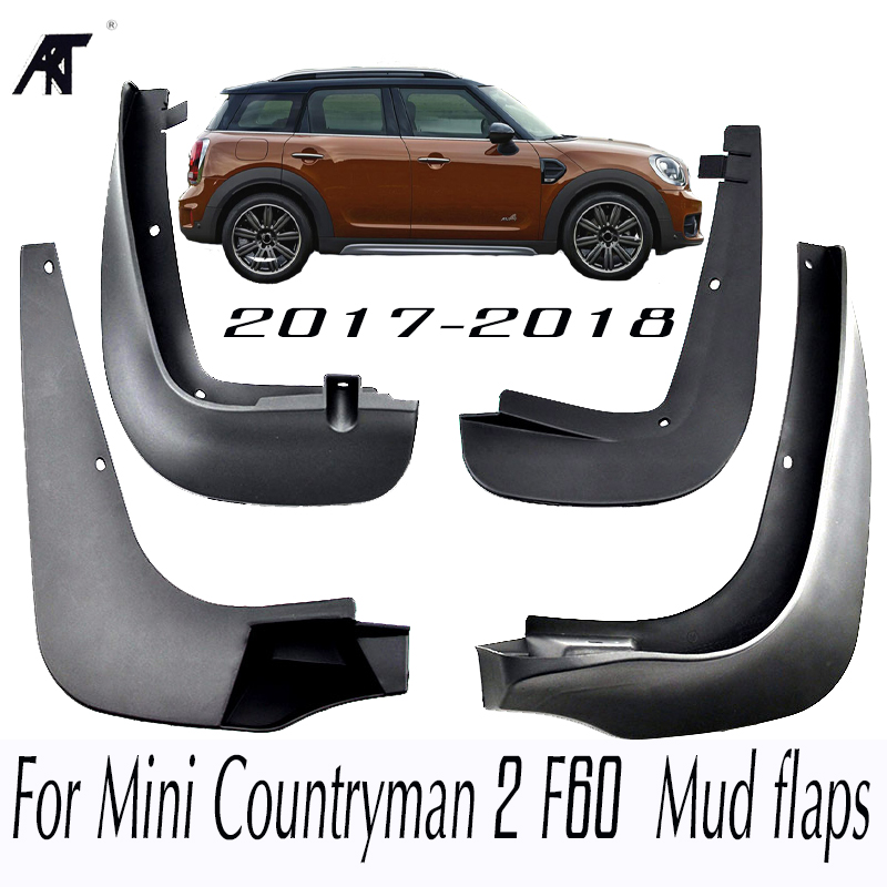 Car Mud Flaps For Mini Countryman 2 F60 2017 2018 Mudflaps Splash Guards Mud Flap Set Molded Mudguards Fender Styling fit for bmw x3 f25 11 15 molded mudflaps mud flap splash guard mudguards fender free shipping lzh