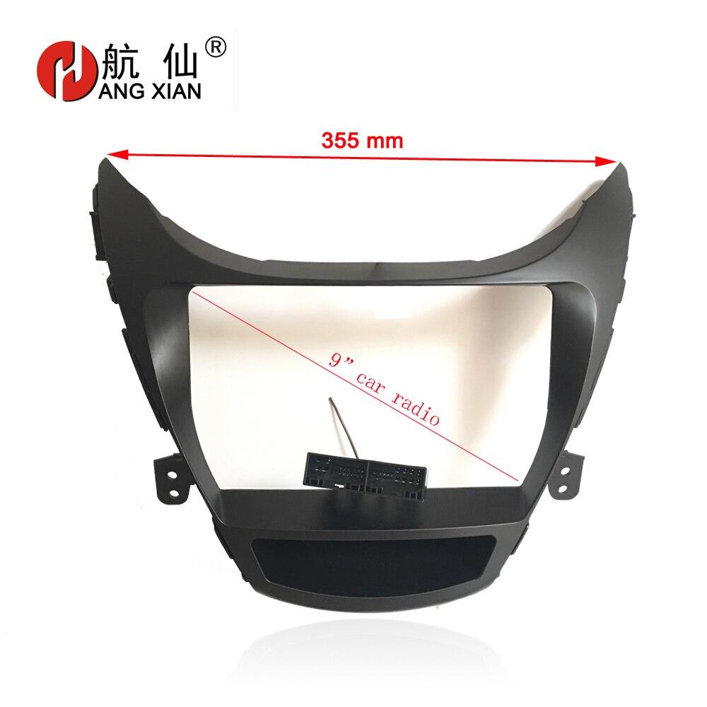 HANG XIAN 2 Din Car DVD Frame Audio Fitting Adaptor Dash Trim Kits Facia Panel For