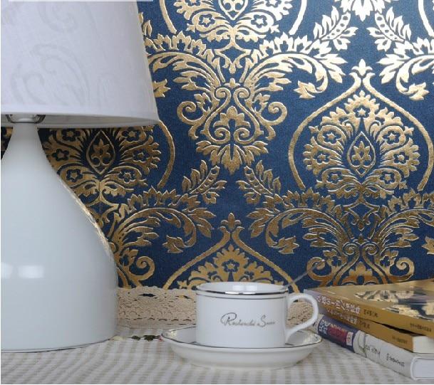 2014new Decorative Waterproof Gold Foil Pvc Wallpaper