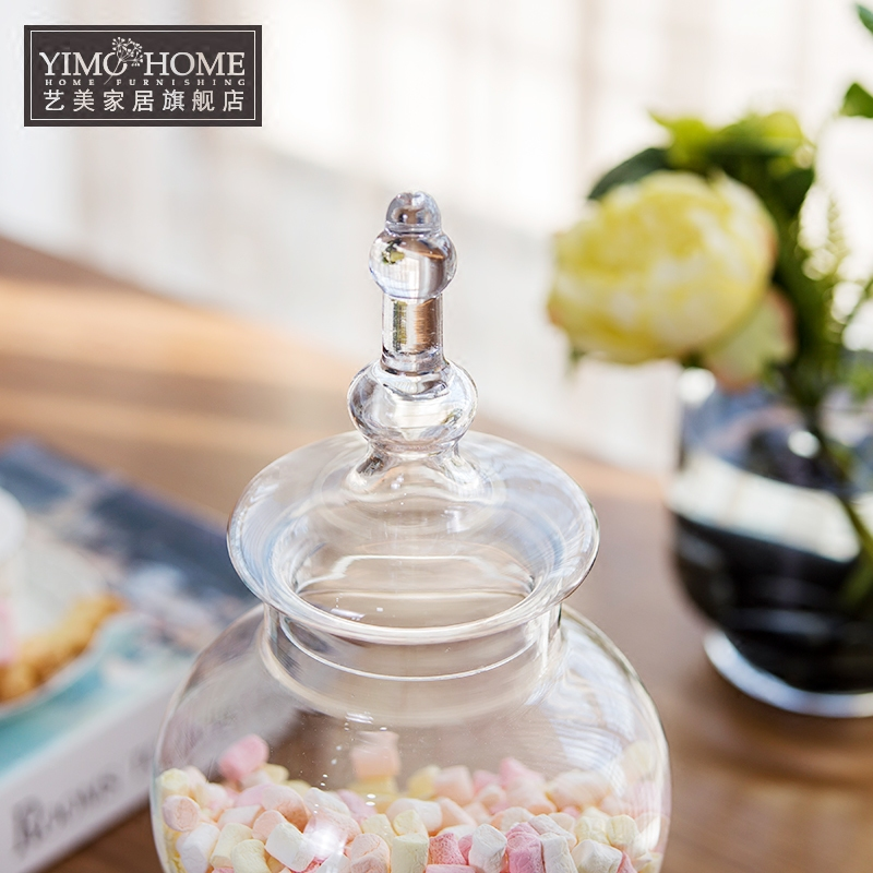 buy large glass bottle candy jars with lid storage tank food container glass jars high quality bottles and storage jars mason jar from - Large Glass Jars