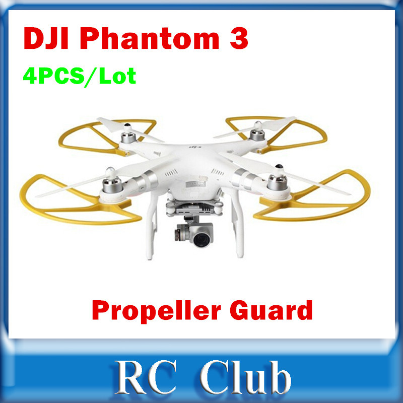 4pcs/Lot Propeller Guard Golden For DJI Phantom 3 Professional and Advanced Accessories Spare Parts