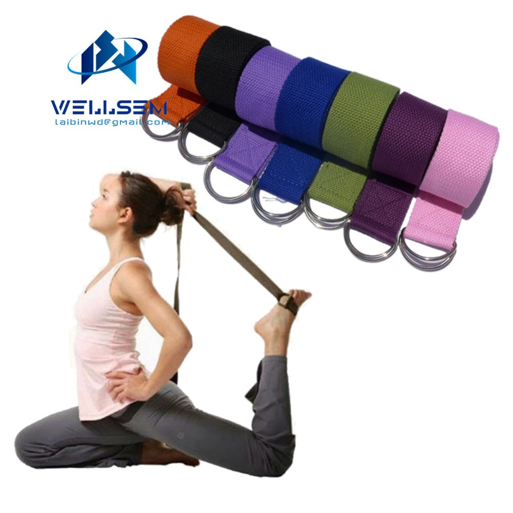 Obliging Wellsem New Multi-colors Women Yoga Stretch Strap D-ring Belt Fitness Exercise Gym Rope Figure Waist Leg Resistance Fitness Band Delicacies Loved By All