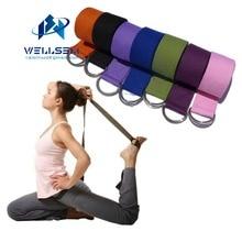 Wellsem New Multi-Colors Women Yoga Stretch Strap D-Ring Belt Fitness Exercise Gym Rope Figure Waist Leg Resistance Fitness Band