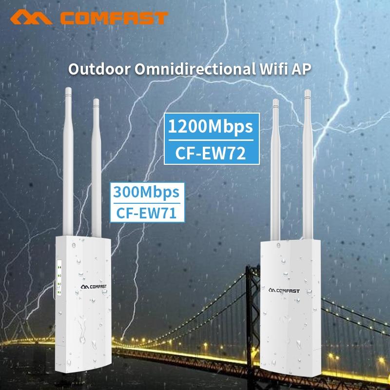 300-1200 Mbps Extérieure Sans Fil WIFI Routeur Répéteur Point D'accès 48 v Poe Antenne Wifi Couverture Booster Extender 802.11ac RJ45 AP
