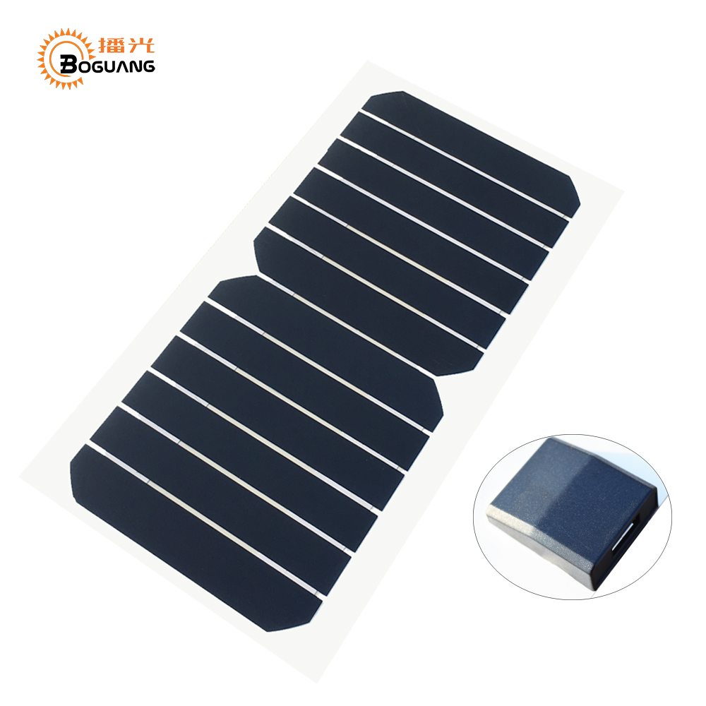 BOGUANG 1PCS 6V 6W 1000mA USB high efficiency mono cell PET solar panel module with Alligator clip DIY kits toys charger