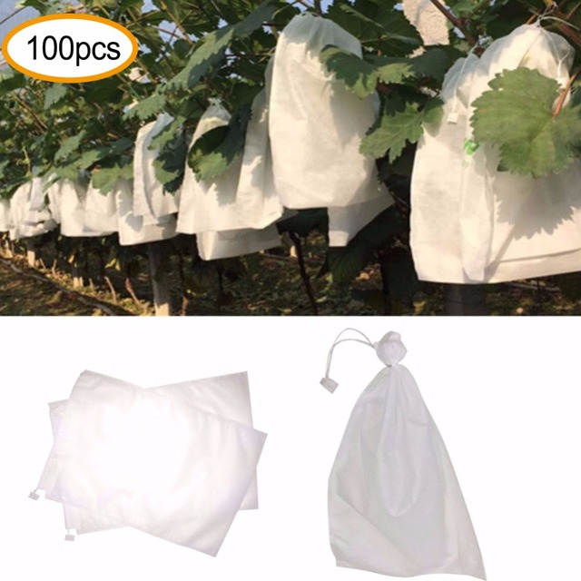 100 pz Uva Sacchetti di Protezione per Frutta Verdura Uva sacchetto Della Maglia