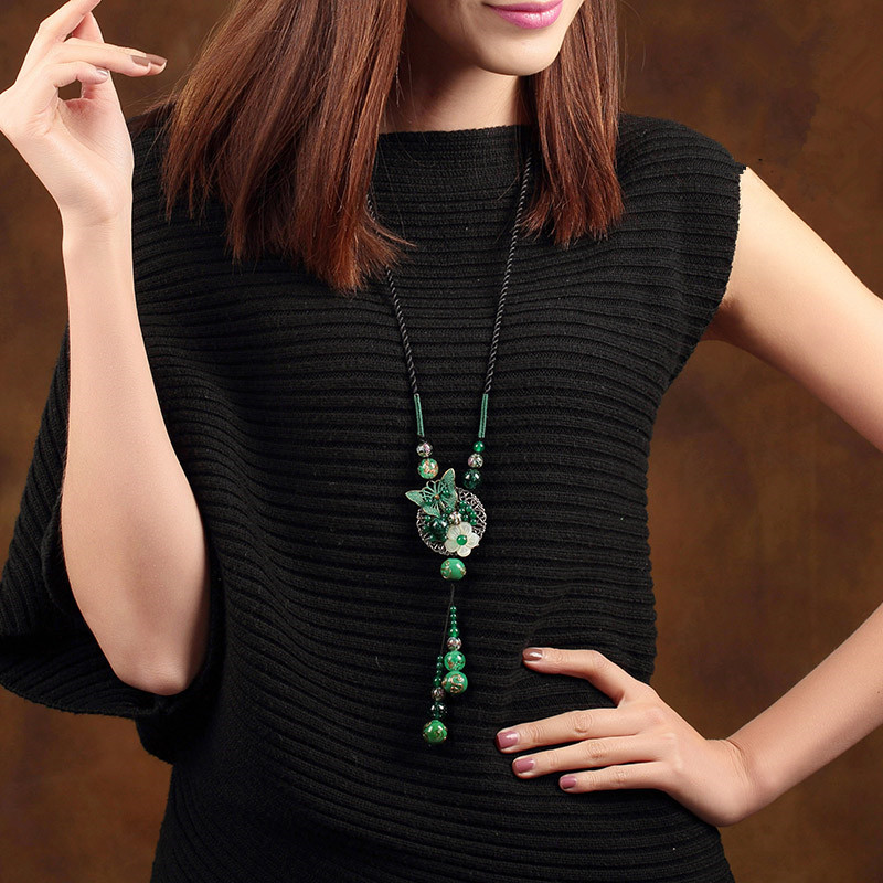 Vintage Necklace For Women Rope Sweater Chain Long Necklaces & Pendants Collier Female Maxi Fashion Jewelry Harajuku Bijoux 2018 цена 2017
