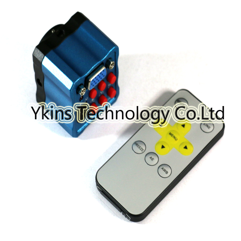 Free shippping NEW mini HD high speed Industry Microscope Camera 1/3 inch sensor With remote control 2MP 10X zoom VGA outputs