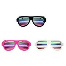 5b113fd39c Activado por voz intermitente gafas de color rosa USB recargable LED  intermitente gafas de sonido y