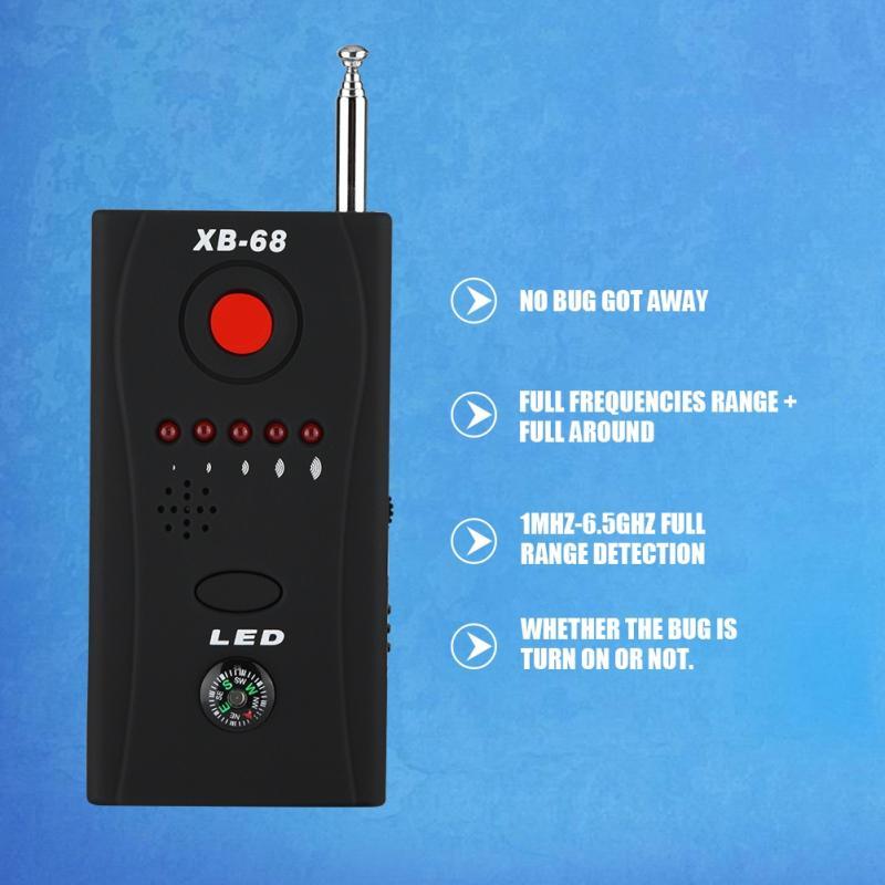 XB-68 Wireless Signal Bug RF Detector Adjustable Laser Lens GSM Device Finder No Bug Got Away Detection Security Sensor Alarm new rf signal bug detector laser lens gsm device finder home security safety
