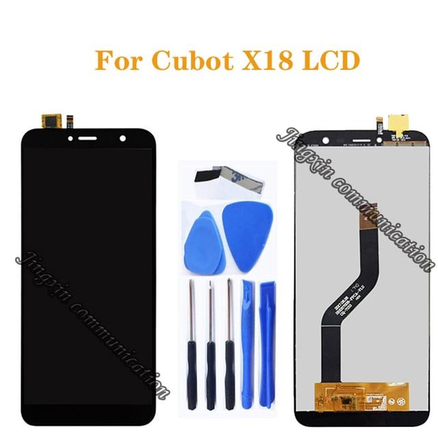 100% テスト 5.7 インチ CUBOT x18 良いオリジナル液晶デジタイザとタッチスクリーン lcd ディスプレイコンポーネント + ツール