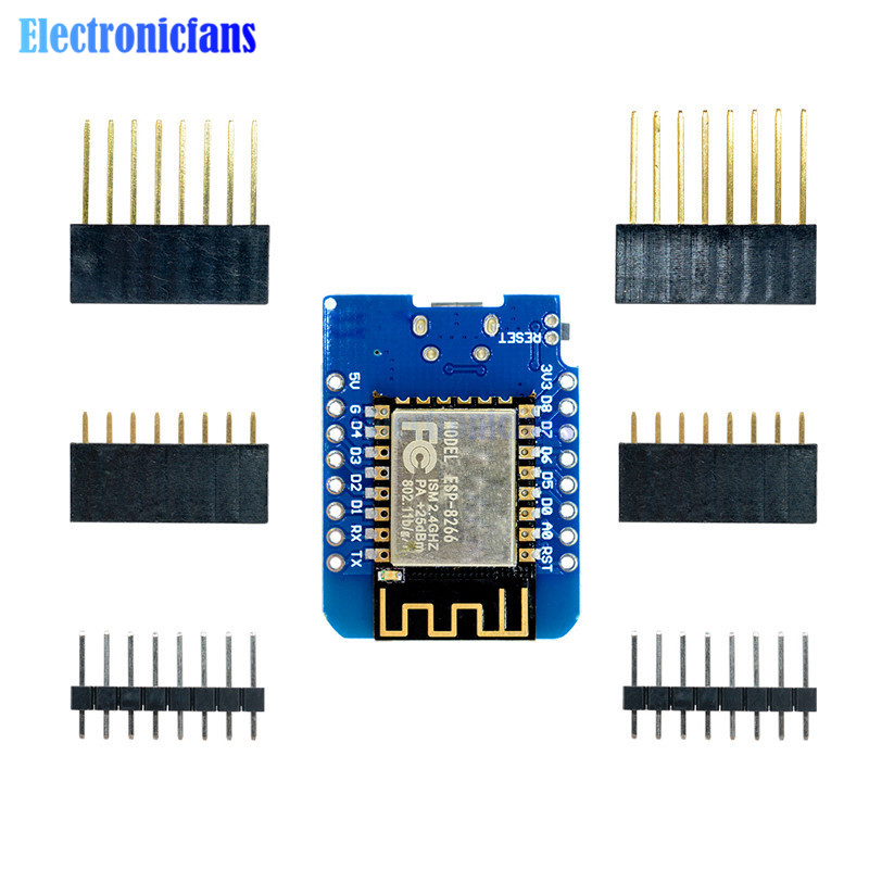 ESP8266 ESP-12 ESP-12F CH340G CH340 V2 USB WeMos D1 Mini WIFI Development Board D1 Mini NodeMCU IOT Board 3.3V With Pins