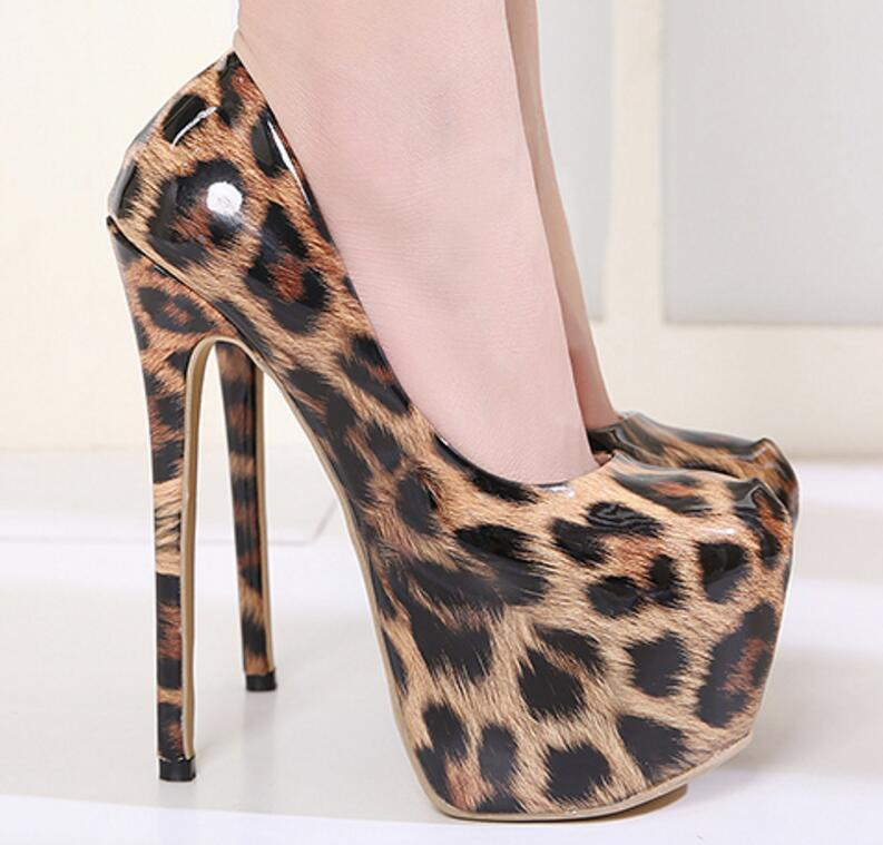 Bombea High Leopard Gladiador Mujer Ultra Leopardo Del Party Mujeres Thin Zapatos Ws181126 Club Apatos Plataforma Heels qROwg