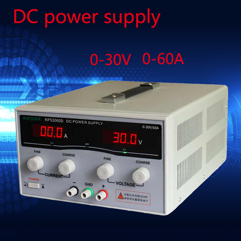 High precision Adjustable Display DC power supply 30V 60A High Power Switching power supply voltage regulators high quality wanptek kps1530d high precision adjustable display dc power supply 15v 30a high power switching power supply