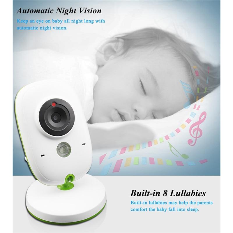 Wireless LCD Audio Video Baby Monitor Security Camera Baby Monitor With Camera 2 Way Talk Night Vision IR Temperature Monitoring