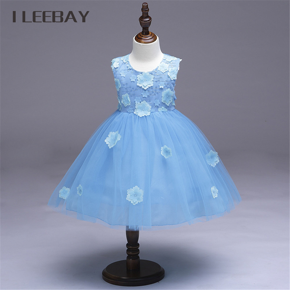 Summer Flower Girl Wedding Dress Toddler Floral Kids Clothes Lace Birthday Party Graduation Gown Prom Dresses Girls Baby Costume 2017 new dress flower baby girl lace dresses birthday party wedding ceremonious toddler girls clothes girl tutu dress for kids