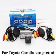 Камера Заднего вида Для Toyota Corolla E160 E170 2013 ~ 2016/RCA AUX Проводной Или Беспроводной/HD Ночного Видения Автостоянка Камеры
