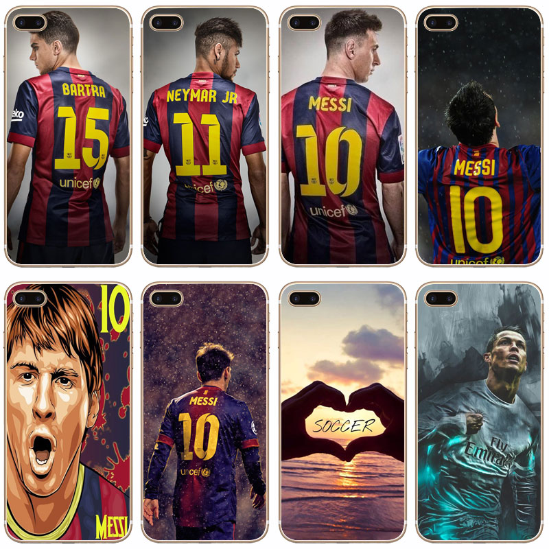 G498 Fashion Soccer Player Transparent Hard Thin Case Cover For Apple iPhone 4 4S 5 5S SE 5C 6 6S 7 8 X Plus