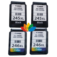 Free shipping PG-245XL Black & CL-246XL Tri-color ink cartridge for compatible Canon PG245 CL246 MG2420 MG2520 MG2920 MG2922