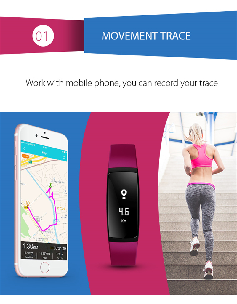 Smart Bracelet Bluetooth Smart Band V07 Watches Blood Pressure Heart Rate Monitor Pedometer Fintess Tracker SMS Call Reminder 3
