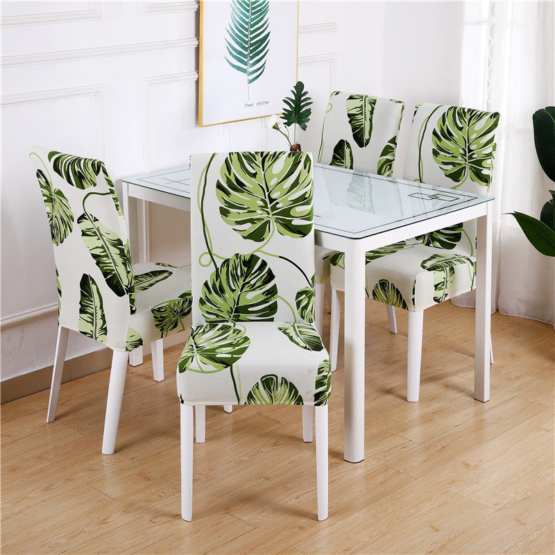 1 to 6 Pcs Dining Chair Cover with Elastic made of Polyester and Spandex Material 2