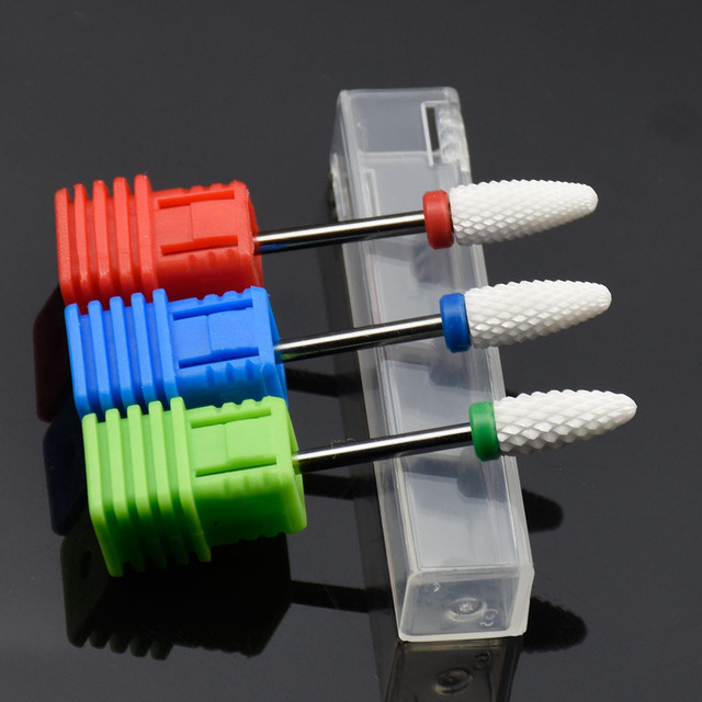 1PCS Ceramic Nail Drill Bit Rotary Milling Cutter Manicure Machine Pedicure Nail Art Tools Electric Nail Drill Accessories