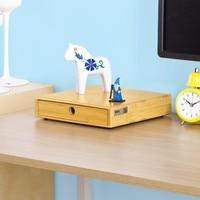 SoBuy Magnetic Stackable Bamboo Home Office Desk Tidy Organiser, Desktop Monitor Stand FRG84 N