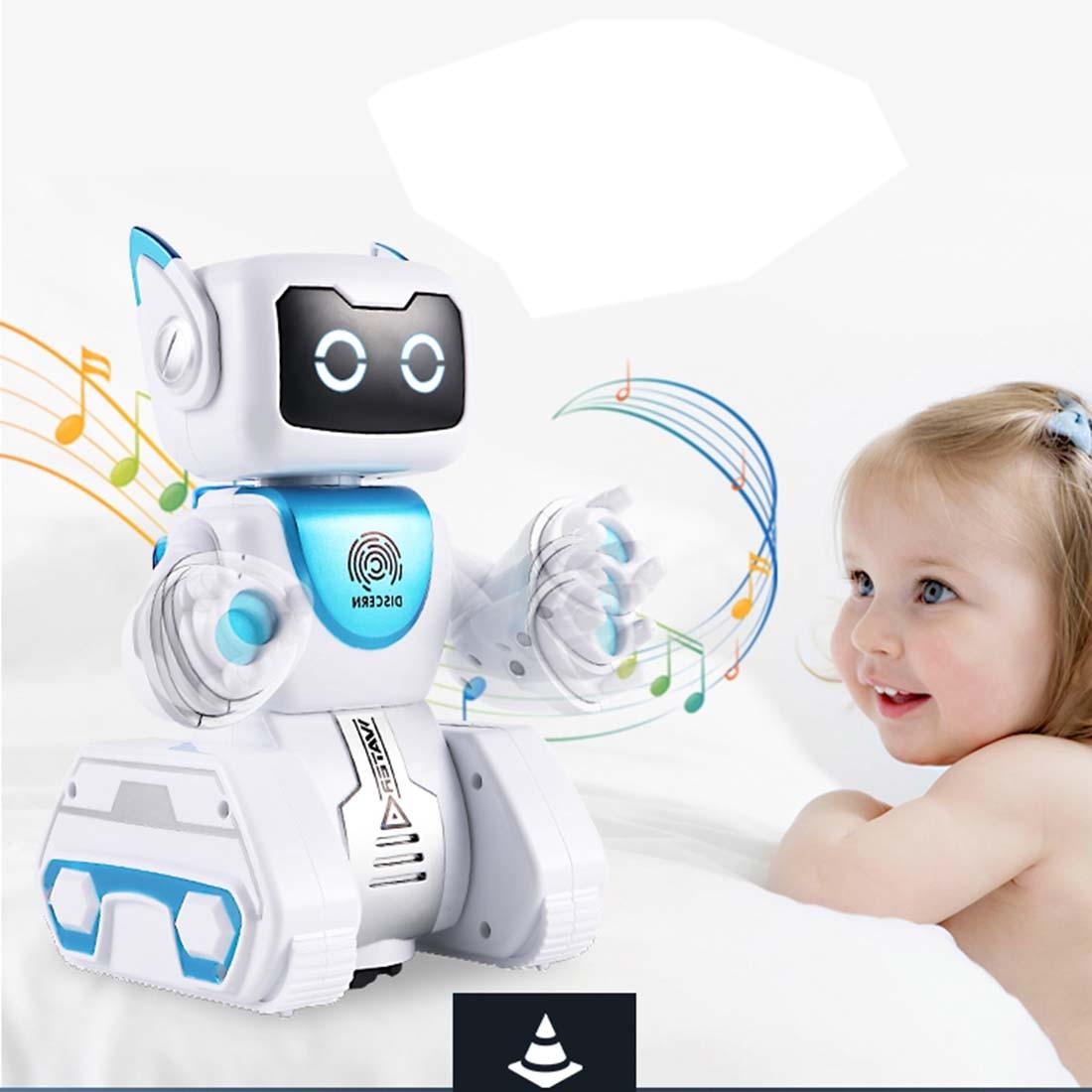 Nouveau Enfants Intelligente RC jouet Robot D'empreintes Digitales Hydro-électrique Hybride Power Smart Robot pour cadeau d'anniversaire pour enfants Robotique