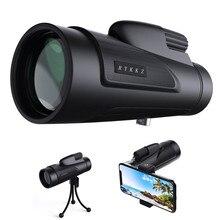 12X50 HD Monocular Zoom Telescope BAK4 Prism FMC High Power Compact Waterproof Monoculars with Smartphone Adapter and Tripod цена и фото