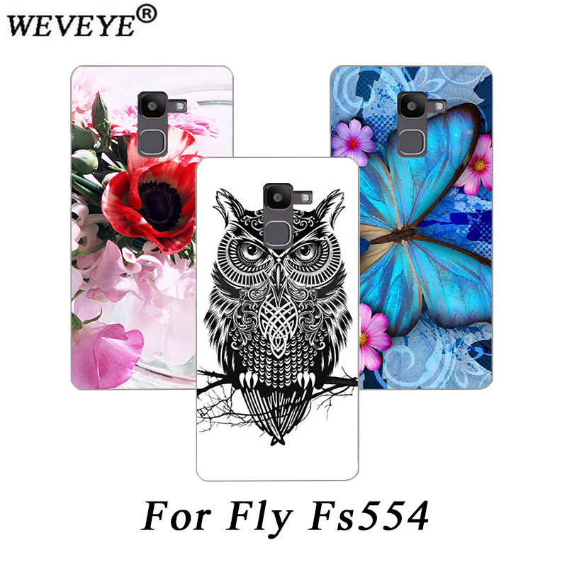 WEVEYE High Quality New Print Perfect Design Phone Case For Fly Power Plus FHD FS554 Cover colorful painting case for FLY FS554 image