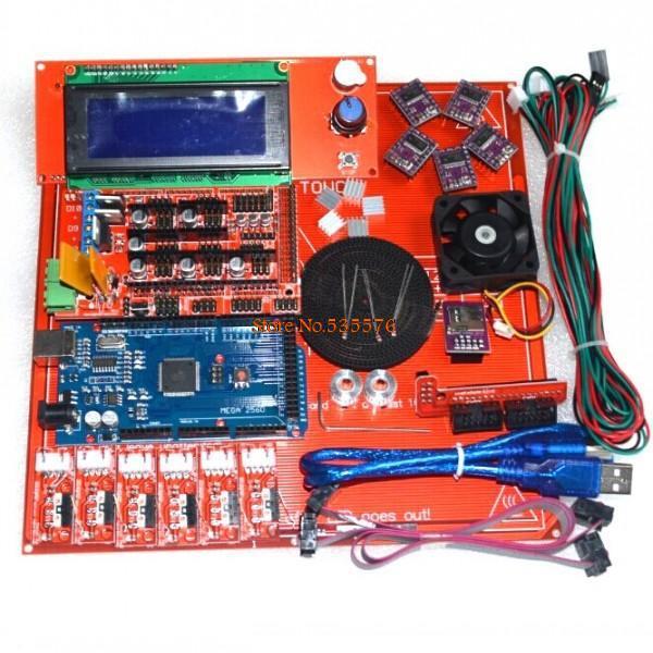 Reprap Ramps 1 4 Kit With Mega 2560 r3 Heatbed mk2b 2004 LCD Controller DRV 8825